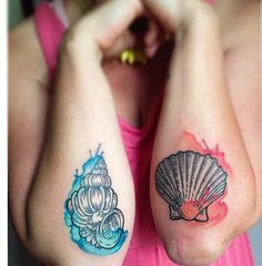 watercolour tattoo shell - Pesquisa Google