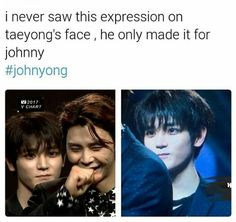 i hope i didn& ruin the moment but look at jOHNNY& FACE AKDBKSJ- The post i hope i didn& ruin the moment but & appeared first on Kpop Memes. Lee Taeyong, Trauma, Nct Life, Funny Kpop Memes, Thing 1, Soyeon, Fandoms, Trendy Baby, Kpop Groups