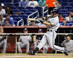 9/4/12: Norichika Aoki send Wade LeBlanc's offering deep to right for a two-run shot in the second to give the Brewers a 3-0 advantage.