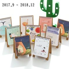 Calendars, Planners & Cards Spirited 17*16cm Creative Desk Standing Paper Organizer Schedule Planner Notebook Escolar 2019 Year New Kawaii Cartoon Cat Calendar