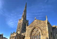 https://flic.kr/p/RCH7y5 | St Peter's Church, Oundle, Northants | Much of the Grade I-listed Church of St Peter in Oundle dates from the 13th century though there was a monastery here from the 8th century. The tower and spire (which was rebuilt in 1634) are surely the finest in the region. The needle spire is 210 feet high and is the highest in Northamptonshire. It is a major landmark and can be seen from many miles around. With its snail crockets and three tiers of lucarnes it is regarded…