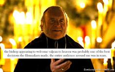 "Sadly, the film version of the legendary stage hit ""Les Miserables"", was made too late in time to allow for the casting of Colm Wilkinson in the lead role of Jean Valjean. Still, Wilkinson's brief presence as the kindly bishop who claims Valjean's soul for God, helped to connect the film to its theatrical roots. In spite of the fact that he calls himself a lapsed Catholic but ""born-again atheist"", Wilkinson did an admirable job as the bishop, in communicating the mercy of God through the…"