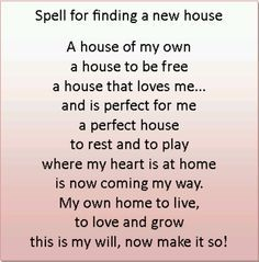 Magick Spells:  #Spell for Finding a New House.