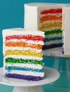 gay wedding cake (Or just a badass colorful one.)