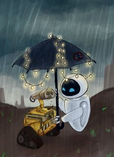 WALL-E: I'll take your hand by schellibie.deviantart.com on @deviantART
