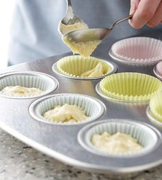 *How to Convert a Cake Recipe into Cupcakes: Bake @ the same temp, but reduce baking time by 1/3 - 1/2 (cupcakes usually bake for 15-20 minutes).*