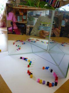 Werken in groep 3 met een dubbele spiegel en kraaltjes