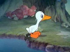 "The video contains no words but symphony music instead. The images and music tell the story ""Le Vilian Petit Canard"" (The Ugly Duckling). Students can record what they see in the video and make predictions if the teacher stops it a certain points. Classic Cartoons, Cool Cartoons, Disney Music, Disney Movies, Frases Disney, Walt Disney Records, Film D'animation, Baby Fairy, Disney Films"