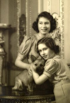 ▫Duets▫ sisters, twins & groups of two in art and photos - Princesses Elizabeth and Margaret