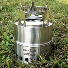 SoLoMan portable stainless Wood Stove ultra light weight compact design survival, camping, backpacking, emergency preparation >>> New and awesome product awaits you, Read it now : Camping equipment Camping Kitchen Table, Best Wood Burning Stove, Best Camping Stove, New Stove, Emergency Preparation, Camping Accessories, Camping With Kids, Camping Equipment