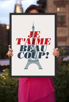 Inspirational Quote Love Je T'Aime Beaucoup door TheMotivatedType