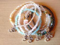 Bracelets Ohm Stones made with Natural SemiPrecious por Ganeshop19