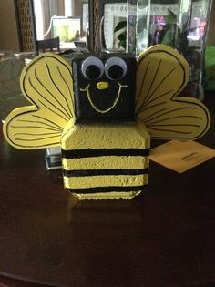 Bumble bee from landscaping block