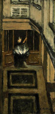 Édouard Vuillard / Le parapluie ouvert dans la cour de 342 rue Saint-Honoré