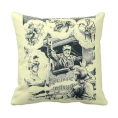 """American Railroad Train Engineer Throw Pillows  $30.95  Polyester Throw Pillow 16"""" x 16""""  Accent your home with custom polyester pillows from Zazzle. Made of a high quality Simplex Knit fabric, these 100% Polyester pillows are soft and wrinkle free. The heavy weight stretch material provides great color definition for your designs, text, monogram, and photos. The perfect complement to your couch, custom pillows will make you the envy of the neighborhood"""