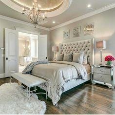 Home Bedroom, Bedroom Decor Glam, Bedroom Design, Dream Bedroom Glam Bedroom, Bedroom Colors, Home Decor Bedroom, Modern Bedroom, Contemporary Bedroom, Trendy Bedroom, Modern Contemporary, Bedroom Wardrobe, Bedroom Neutral
