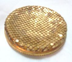 Vintage Pilcher Mesh Ladies Makeup Compact by bitzofglitz4u on Etsy