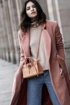 Beat the winter blues and invest in a pink coat that will instantly elevate your look. Opt for a monochrome outfit by layering a dark pink coat over maroon knitwear, and accessorise with a bold...
