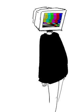 hhh by aphnorways on DeviantArt Object Heads, Tv Head, Vent Art, Cute Art Styles, Aesthetic Art, Aesthetic Objects, Pretty Art, Cartoon Art, Dark Art