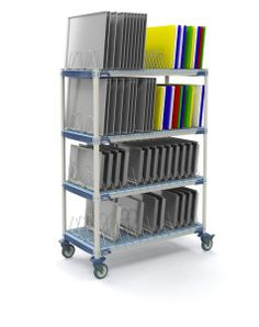 TRAY DRYING AT ITS BEST....Metro Style!  The MetroMax i Mobile Tray Drying Rack allows superior air circulation for the fast drying of trays, cutting boards, pans and lids.  This corrosion proof unit, constructed of advanced polymers infused with Microban antimicrobial product protection, provides the performance of stainless steel at a fraction of the cost.