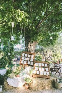 Rustic wood pallet seating chart