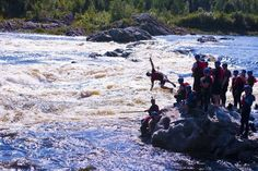 What a Rush!  Whitewater rafting in Newfoundland!!
