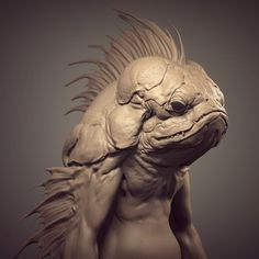 FishMan sketch (2016), Leon Enriquez on ArtStation at https://www.artstation.com/artwork/ZdD01