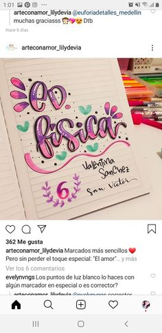 School Notebooks, Notebook Covers, Sticky Notes, Diy Flowers, Bullet Journal, Hand Lettering, Manicure, Doodles, Calligraphy