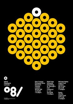 poster for the D& AD President's lectures by Peter Saville (2008)