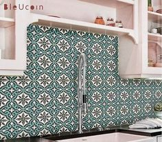 MOROCCAN TILE DECAL  Order pack: 44 tile decals Size: You can select the size from right side size drop down button. Color: dark grey with a touch of