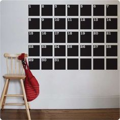 Never Forget Another Important Date with the Chalk Talk Calendar #homedecor #decals trendhunter.com