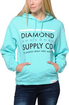 Diamond Supply Co. Girls Roots Mint Blue Pullover Hoodie at Zumiez : PDP