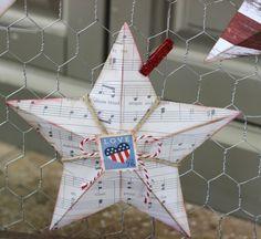 DIY Patriotic Stars #diy4thofjuly