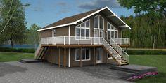 Maison Nordique - Maisons usinées - Style Chalet- Modèle Appalache