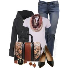 """Getting Casual with a Printed Bag"" by iamhazelle on Polyvore"