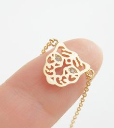 Tiger necklace in gold