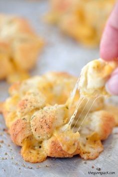 Bloomin' Garlic Cheese Biscuits recipe for cheesy, pull apart bread everyone will love!