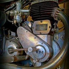 1954 BSA M21 engine