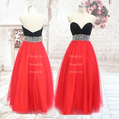 long prom dress red prom