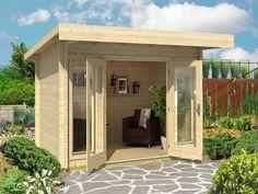 Ideal für kleinere Gärten - das Gartenhaus Barbados Mini