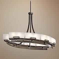 Kichler Leeds 12-Light Oval Large Modern Chandelier