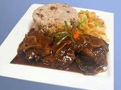 Image result for oxtail jamaican food Lamb Leg Steak Recipe, Lamb Steak Recipes, Turkey Leg Recipes, Slow Cooker Recipes, Jamaican Cuisine, Jamaican Dishes, Jamaican Recipes, Grilled Turkey Legs, Lamb Pasta