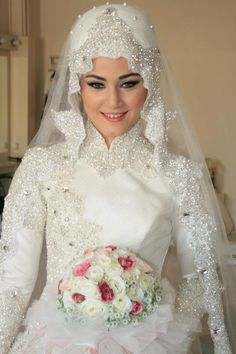 gorgeous bride hijab - Google Search