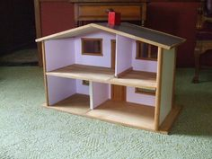 Vintage 1960's Wooden Doll House Handmade All Wood Doll House | eBay