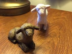 Willow Tree Nativity Sheep REPLACEMENT EXTRA Pieces Black Laying White Standing