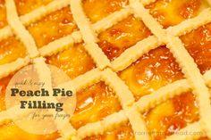how to make peach pie filling for the freezer / http://www.theprairiehomestead.com/2011/09/homemade-peach-pie-filling-for-the-freezer.html