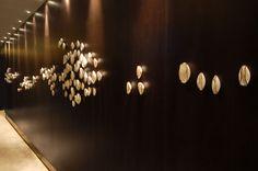 Up In the Clouds Wall Sculpture Eva Menz Design Ritz Carlton Hong Kong Porcelain design art installation chandelier
