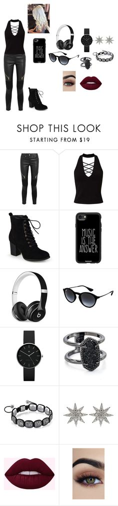 """untitled 9"" by mikayla-payant ❤ liked on Polyvore featuring Givenchy, Miss Selfridge, Journee Collection, Casetify, Beats by Dr. Dre, Ray-Ban, Newgate, Kendra Scott and Bee Goddess"