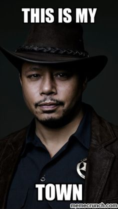 Wayward Pines ~ Terrence Howard as the wayward Sheriff Pope. Soooo bad he's good!