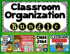 Classroom Organization Bundle from Create abilities on TeachersNotebook.com -  - My Classroom Organization products are now bundled into one set! You will receive 557 pages of classroom jobs, library labels, supply labels, and schedule cards!